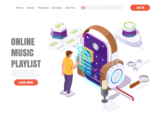 Streaming service concept landing page