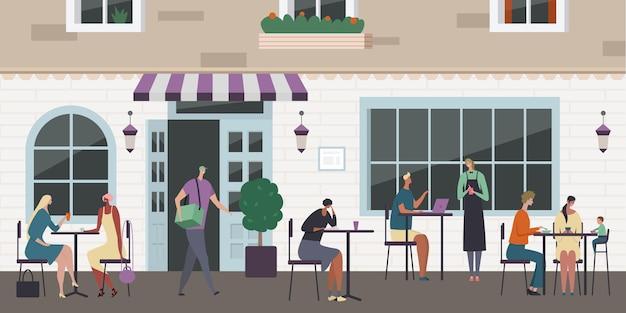 Иллюстрация уличного кафе