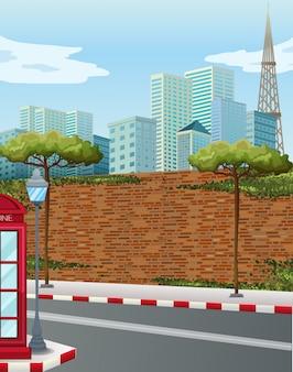 Street corner in the city