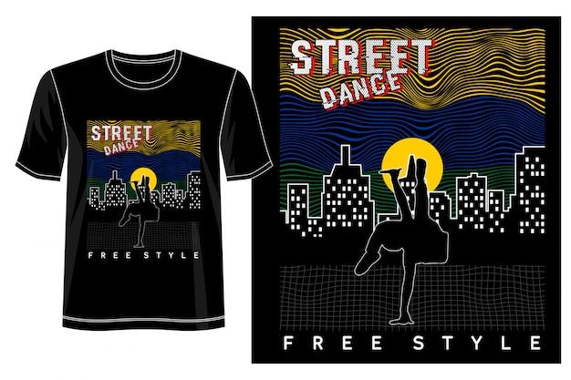 プリントtシャツのストリートダンスデザイン