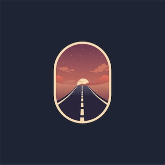 ストリート砂漠のロゴイラスト