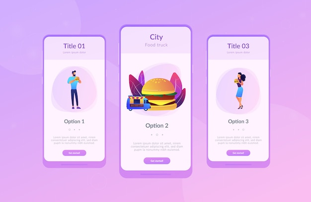 Street food app interface template.