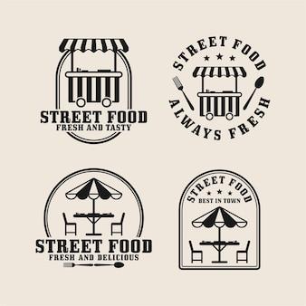 ストリートフードデザインのロゴコレクション
