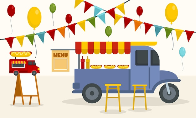 Street food truck background