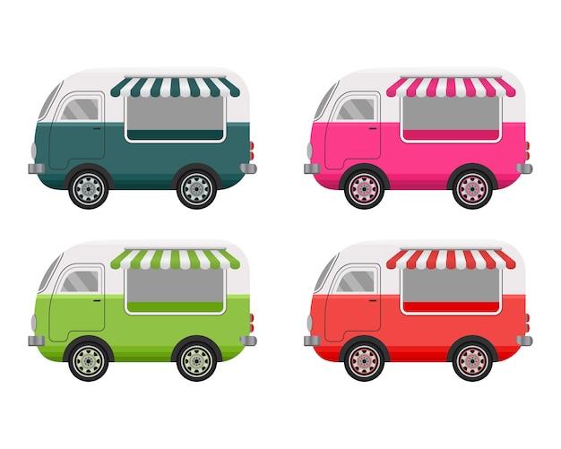Уличная еда грузовик концепция.