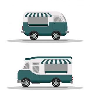 Street food truck concept.