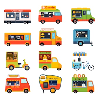 Street foodtruk set