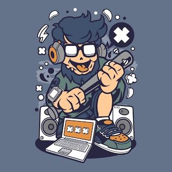 Street hipster cartoon