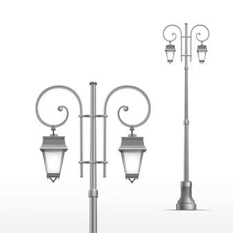 Уличный фонарь на белом фоне