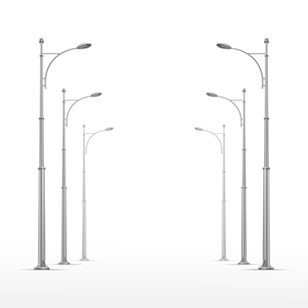Street lamp on white background