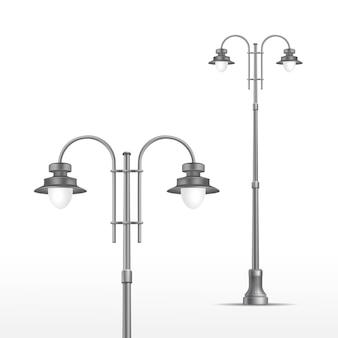 Street lamp on white background
