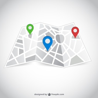 Street map with pointers