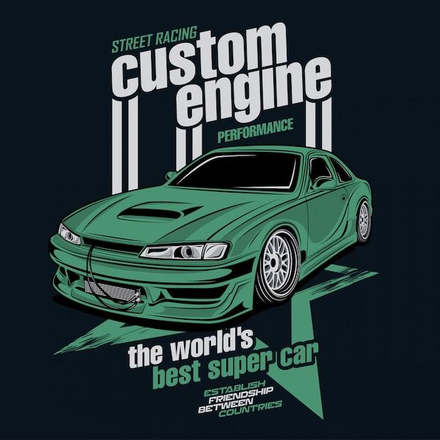 Street racing custom engine