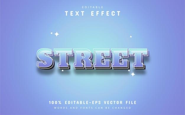 Текст улицы - редактируемый текстовый эффект 3d