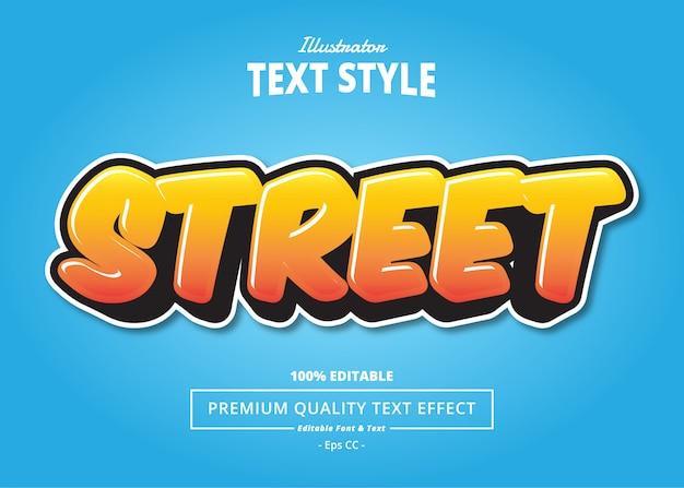 Street text effect Premium Vector