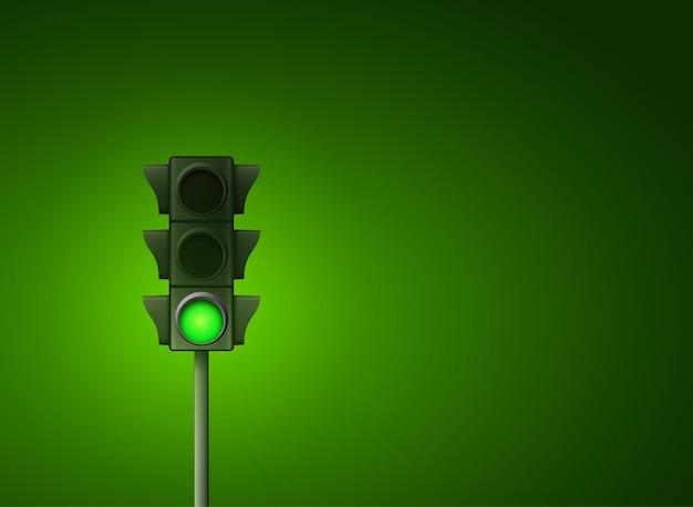 거리 신호등 아이콘 램프