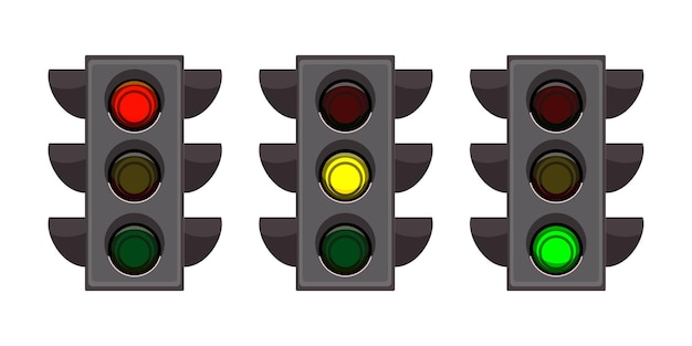 Набор уличных светофоров