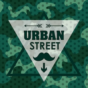 Street and urban concept with style icon design