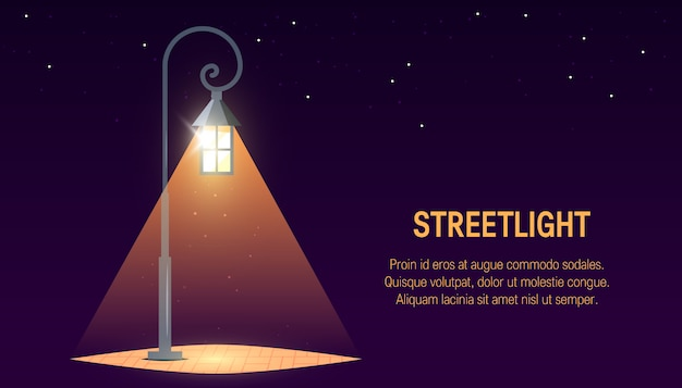 Streetlight banner design.