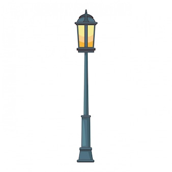 Streetlight cartoon isolated