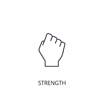 Strength concept line icon. simple element illustration. strength concept outline symbol design. can be used for web and mobile ui/ux