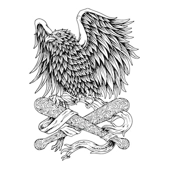 The strength of the eagle,resistance symbol