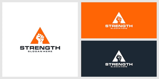 強さのロゴのデザインテンプレート