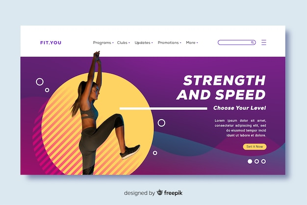 Strength and speed gym promotion landing page