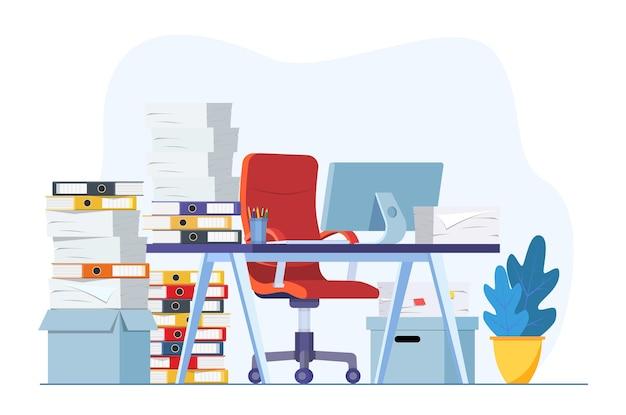 Stressful paperwork blockage at work