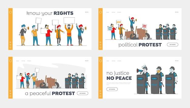 Набор целевой страницы демонстрации strike