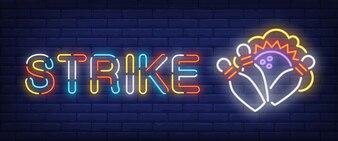 Strike neon style banner
