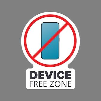 취소선 전화 아이콘입니다. 금지 장치, 자유 구역 장치, 디지털 해독의 개념. 스티커용으로 비어 있습니다. 외딴. 벡터.