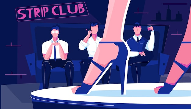 Иллюстрация стриптиз-клуба
