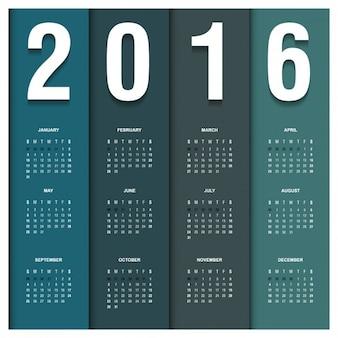 Striped 2016 calendar