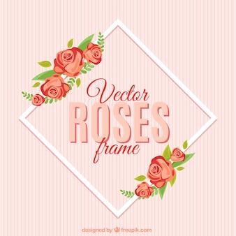 Полосатый фон с цветочным кадр