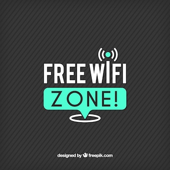 Striped background with wifi connection