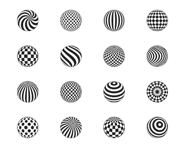 Striped balls, cage, dots pattern