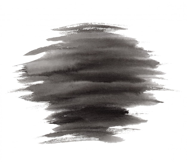 縞模様の黒インクまたは水彩汚れ