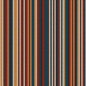 縞模様のカラフルな編み物パターン
