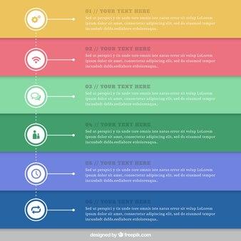 Полосатый инфографики в красочном стиле