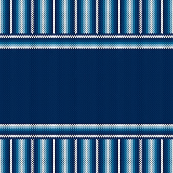 Striped knitted background with a place for text