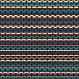 ストライプ編みパターン。