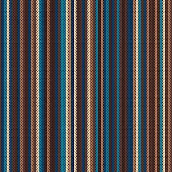 Striped knitting pattern.