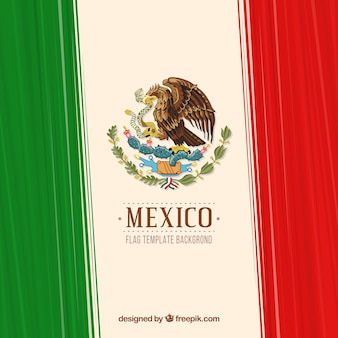 Striped mexican flag background