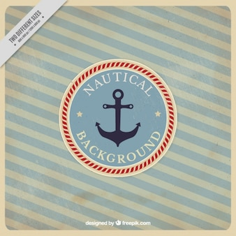 Striped nautical background in vintage style