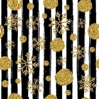 Празднование рождества шаблон руки обращается элементы с золотом