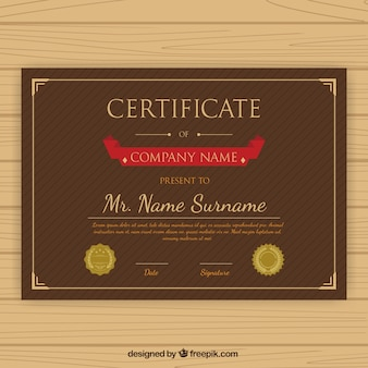 Striped recognition certificate template