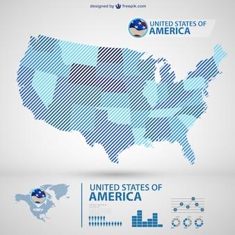 Сша векторная карта infography
