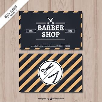 Stripes barber shop card