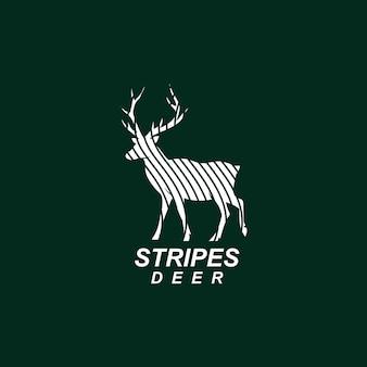 縞模様の鹿のロゴ